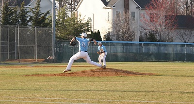Senior Jacob Bukauskas pitches the ball