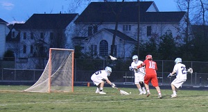 Senior Brian Failor saves a goal