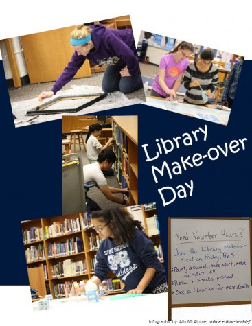 Students Assist With Library Make-over